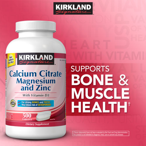 CITRACAL CALCIUM CITRATE WITH VITAMIN D PLUS MAGNESIUM AND ZINC 500 VIÊN