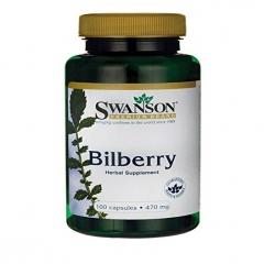 Bilberry Fruit 470 mg thương hiệu Swanson của Mỹ 100 viên