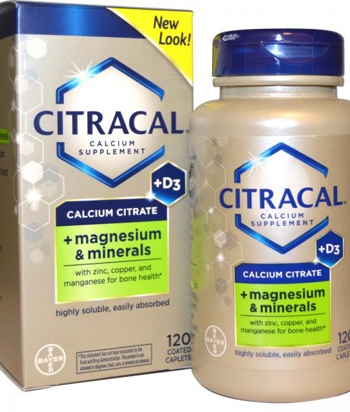 CITRACAL CALCIUM CITRATE +D3 120 VIÊN