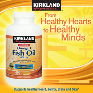 Kirkland Signature™ Fish Oil 1000 mg – Lọ 400 viên