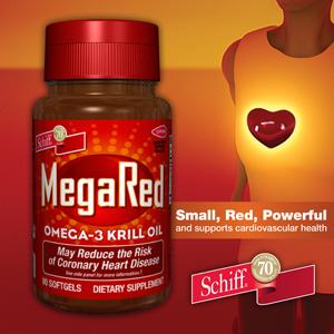 Schiff ® MegaRed Omega-3 Krill Oil 300 mg. Hỗ trợ sức khỏe tim mạch. Hộp 90 viên